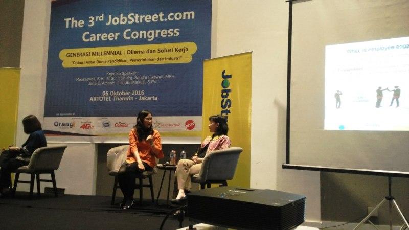 """The 3rd JobStreet Career Congress Generasi Millenial: Dilema dan Solusi Kerja """"Diskusi Antar Dunia Pendidikan, Pemerintahan dan Industri"""""""