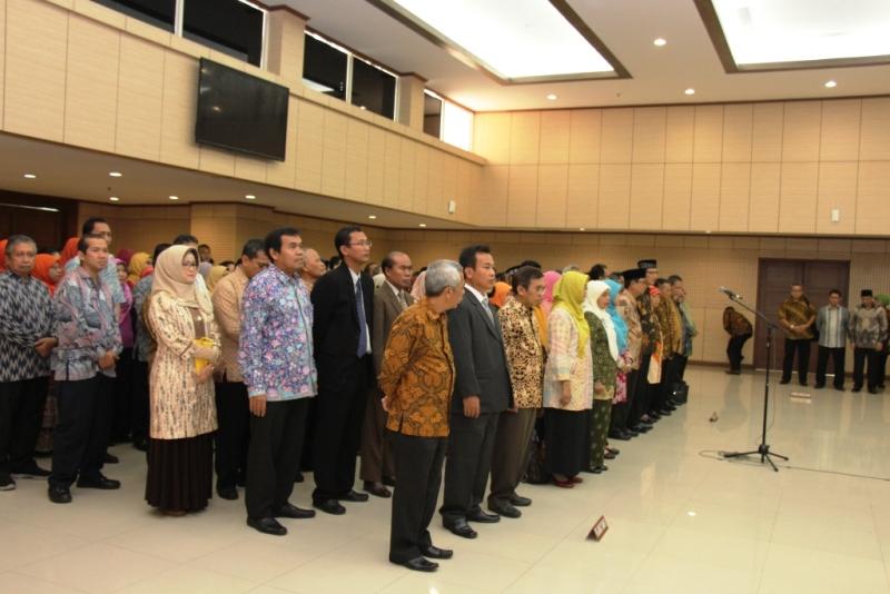 Pelantikan Pimpinan Fakultas FE UNJ