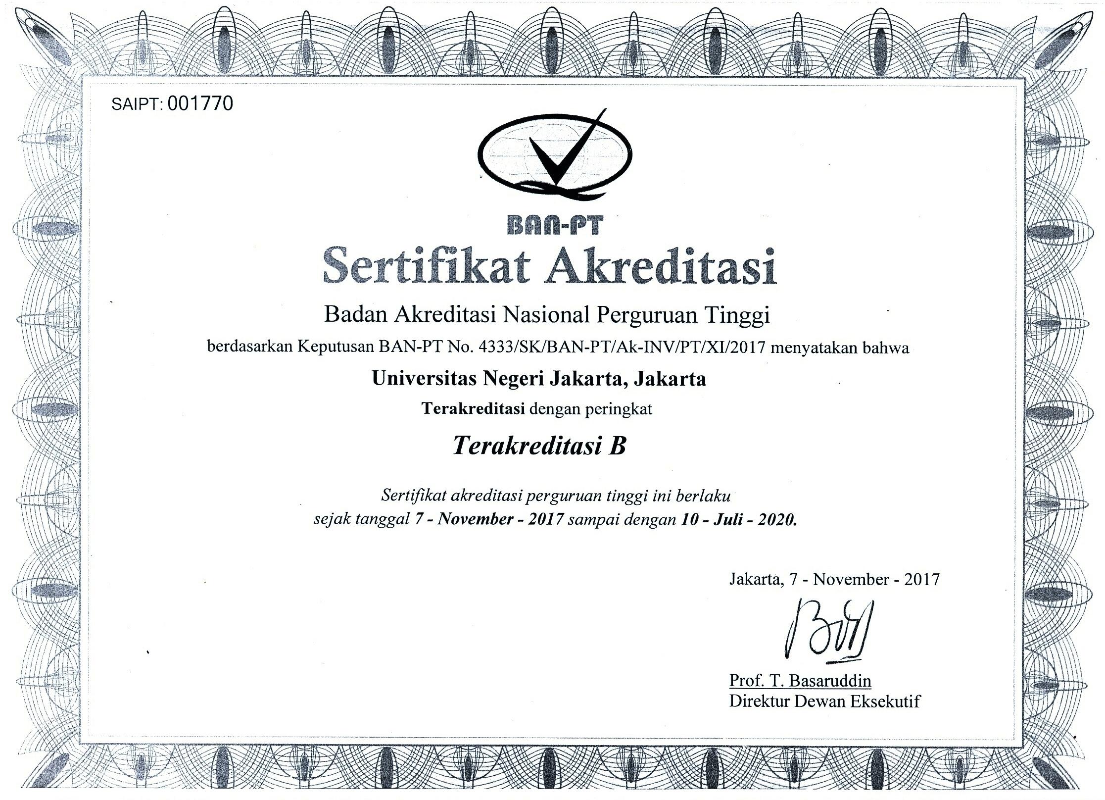 Akreditasi UNJ_baru 2017