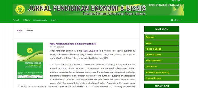 Terakreditas Sinta 2, Jurnal Pendidikan Ekonomi & Bisnis Siap Menjadi Jurnal Internasional